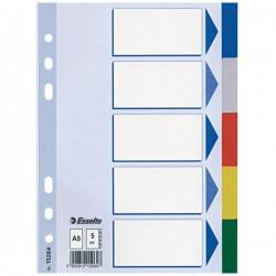 Esselte Rozřaďovač A5 5ti- barevný 15264