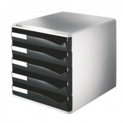 Leitz zásuvkový box 52800095 5-ti zás. černý