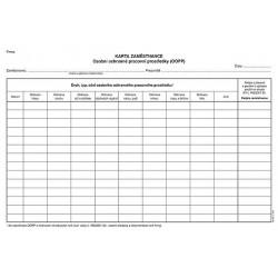 Tiskopis Karta zaměstnance-OOPP A4(ks) OPTč.1220