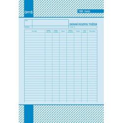 Tiskopis Denní rozpis tržby A4 OPT č.1054