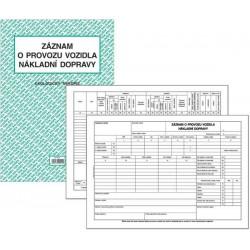 Tiskopis Záznam o provozu vozidla ND (stazka) obous. A4 BAL/EKO puťovka  ET210
