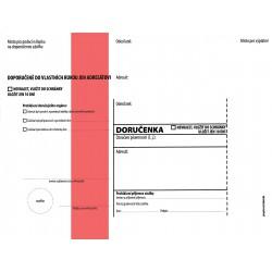Doručenka C5/1000 správní - červený pruh - s poučením NCR