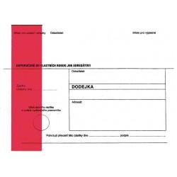 Doručenka C5/1000 soudní - zelený pruh-s poučením -DORUČENKA do vlastních rukou s vyloučením vložení do schránky