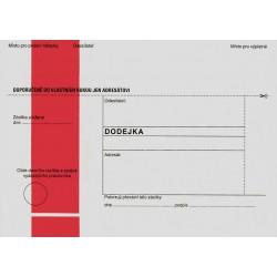 Obálky s doručenkou - dodejkou B6 - samolepící, modrý pruh, text 125 x 176
