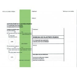 Doručenka C5/1000ks modrý pruh- finanční vzor.3 Krpa