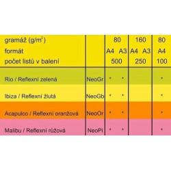 Barevný Xero Papír A3-80gr COLORACTION Acapulco reflexní oranžová - 500listů