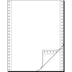 """Tabelační papír 24 x 12"""" (1+1) 1000 listů, boční perforace NCR"""