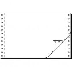 """Tabelační papír 24 x 6"""" (1+1) 1000 listů, boční perforace NCR"""