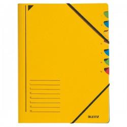 Třídicí desky s gumou 7přihr. Leitz 39070015 žluté