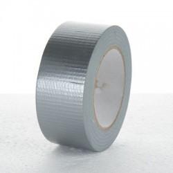 Páska lepicí 50x50 stříbrná s textilní výztuhou