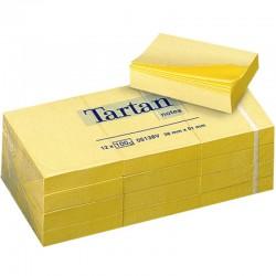 Lepicí bloček 3M TARTAN 38x51- 3ks/ žlutá