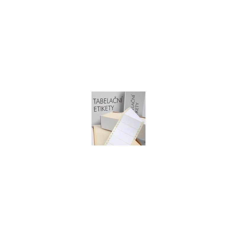 Samolepící tabelační etikety jednořadé S&K LABEL, 500 skladů