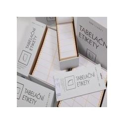 Samolepící tabelační etikety dvouřadé S&K LABEL, 500 skladů