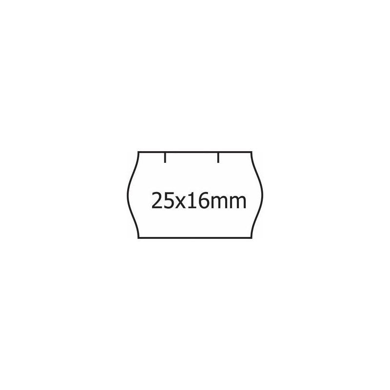 Cenové samolepící etikety na kotoučku 25x16 CONTACT oblé okraje, 1100 etiket