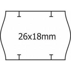 Cenové samolepící etikety na kotoučku 26x12 UNI oblé okraje, 1500 etiket