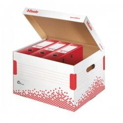 Rychle-složitelný archivační kontejner s víkem na pořadače Esselte Speedbox, bílá