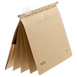 Závěsné desky Leitz ALPHA® s rychlovazači a kapsou, hnědá