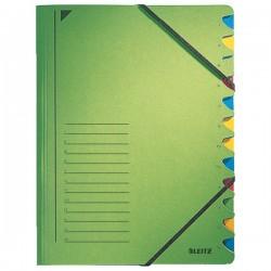 Leitz třídicí desky s gumičkou A4 zelené, 12 listů