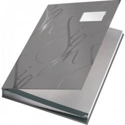 Designová podpisová kniha Leitz modrá, 18 třídících listů