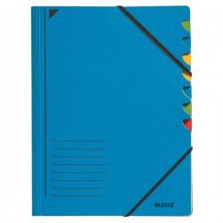 Třídicí desky s gumou 7přihr. Leitz 39070035 modré