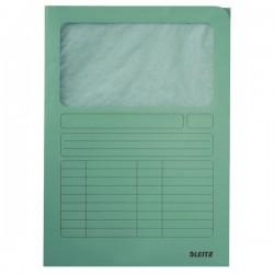 Odkládací desky s okénkem Leitz A4, světle modrá