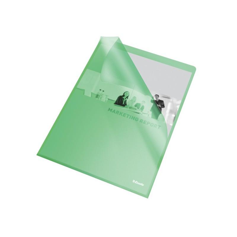 Esselte Obal A4 L zakládací 115mi PP 60835 zelený 25ks embosovaný