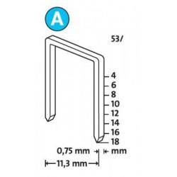 Spony do řemeslnických sponkovačů NOVUS 53/10 Super Hard, 1000 ks
