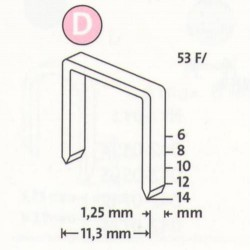 Spony do řemeslnických sponkovačů NOVUS 53 F / 10, 600 ks