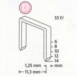 Spony do řemeslnických sponkovačů NOVUS 53 F / 12, 600 ks