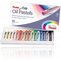 Pentel olejové pastely PHN-12, sada 12ks