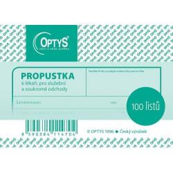 OPTYS PROPUSTKA A7 100 LISTŮ 1147