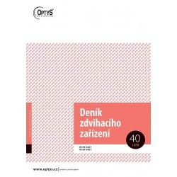 OPTYS DENÍK ZDVIHACÍHO ZAŘÍZENÍ A4 - 1227