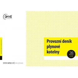 OPTYS PROVOZNÍ DENÍK PLYNOVÉ KOTELNY A4 - 1241