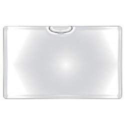 Obal PVC lepicí, kapsa na vizitky otevřená nahoře, 6ks