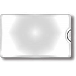 Obal PVC lepicí, kapsa na vizitky otevřená naboku, 10ks