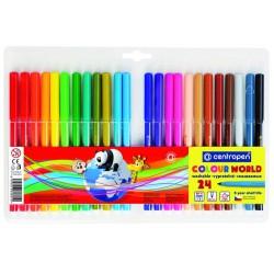 Centropen barevné popisovače COLOUR WORD 7550 sada 24ks, stopa 1 mm