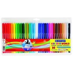 Centropen barevné popisovače COLOUR WORD 7550 sada 30ks, stopa 1 mm