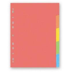 Kartonový rozdružovač A4 s europerforací CLASSIC, 1-5 barev