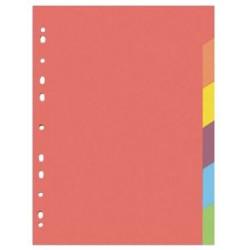 Kartonový rozdružovač A4 s europerforací CLASSIC, 1-6 barev