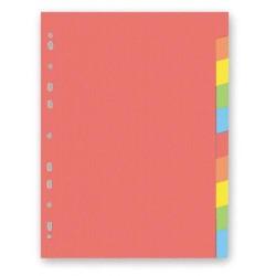 Kartonový rozdružovač A4 s europerforací CLASSIC, 1-10 barev