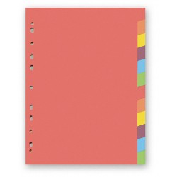 Kartonový rozdružovač A4 s europerforací CLASSIC, 1-12 barev