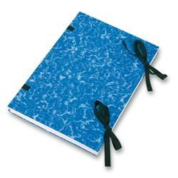 Spisové desky s tkanicí A4 Mramor, knihařský potah