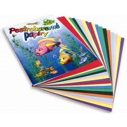 Školní pestrobarevné papíry 20 listů, formát A4
