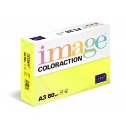 Papír barevný A3/80g Coloraction NeoGb Ibiza reflexní žlutá, 500 ks