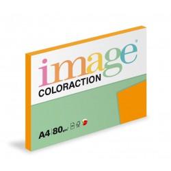 Barevný Xero Papír A4 - 80gr COLORACTION Acapulco reflexní oranžová - 100listů v balení
