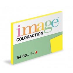 Barevný Xero Papír A4 - 80gr COLORACTION IBIZA reflexní žlutá - 100listů v balení