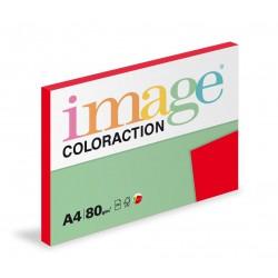 Barevný Xero Papír A4 - 80gr COLORACTION Chille jahodová červená - 100listů v balení