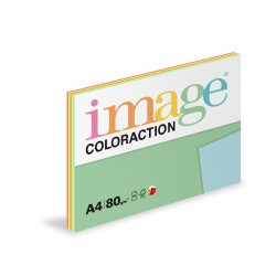 Barevný Xero Papír A4 - 80gr COLORACTION mix reflexních barev 5x20 listů