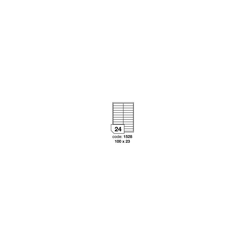 Rayfilm Office R0100, samolepicí matné bílé univerzální etikety, 100 listů