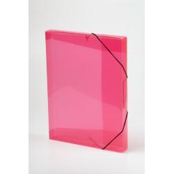 Krabice na spisy A4 PP s gumičkou průhledná